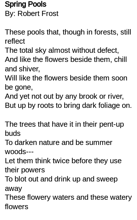Spring Poems By Robert Frost 5